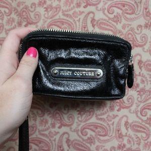 Juicy Couture black double zipper wristlet wallet